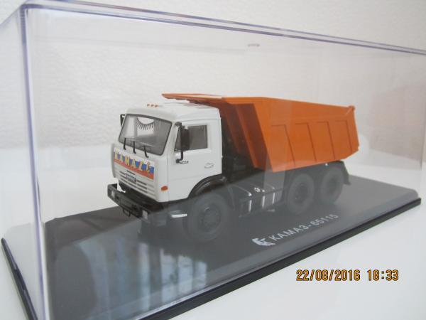 КАМАЗ-65115 (Start Scale Models (SSM)) [2006г., бело/оранжевый, 1:43]