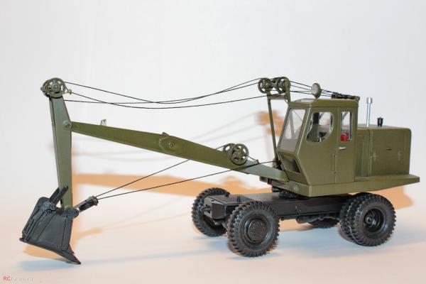 Экскаватор Э-302А (RTM) [хаки, 1:43]