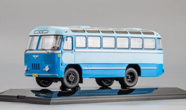 ПАЗ-652 (DiP Models) [1960г., синий/голйбой, 1:43]