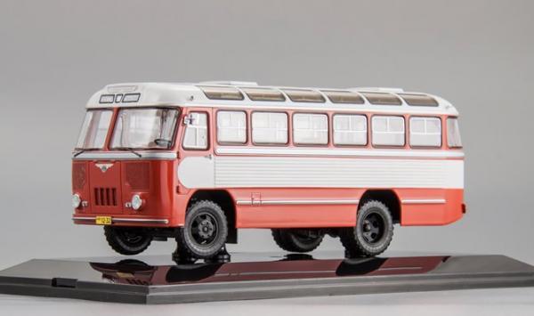 ПАЗ-652 (DiP Models) [1960г., белый/красный, 1:43]