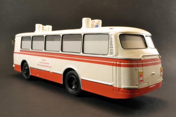 ЛАЗ-692 (Vector-Models) [1986г., белый/красный, 1:43]