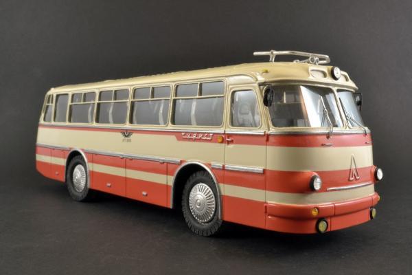 ЛАЗ-697М (Vector-Models) [1970г., Бежевый, красные полосы, 1:43]