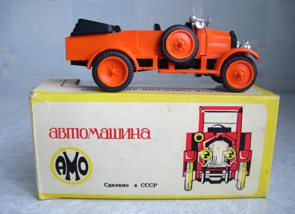 АМО-Ф-15 штабной (фабрика Кызыл-Ту, г.Алма-Ата) [1927г., красный, 1:43]