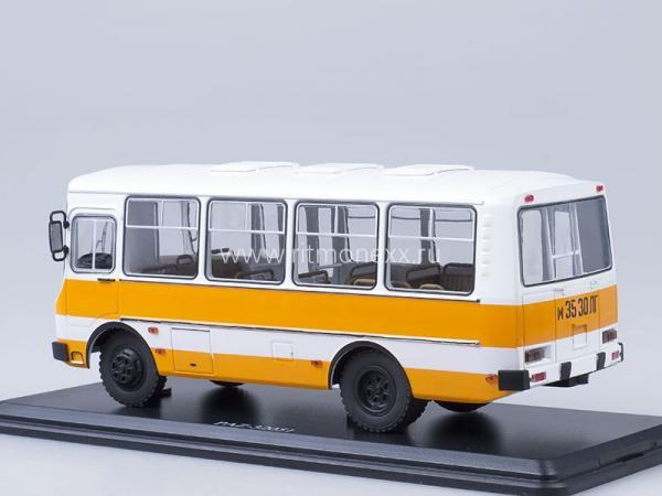 ПАЗ-32051 городской (Start Scale Models (SSM)) [1989г., белый/оранжевый, 1:43]