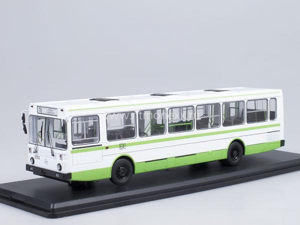 ЛИАЗ 5256 (Start Scale Models (SSM)) [1989г., зеленый/белый, 1:43]