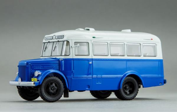 """ПАЗ 651А """"Ярославль - Заказной (DiP Models) [1955г., синий с белым верхом, 1:43]"""