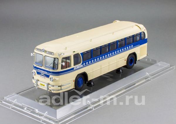 ЗИС 127, маршрут «Симферополь-Киев» (DiP Models) [1955г., бежевый, синий, 1:43]