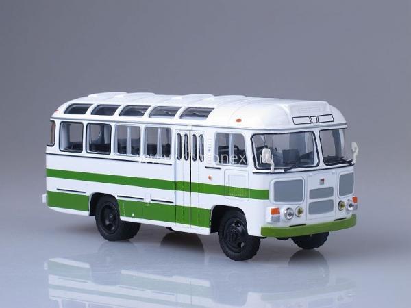 ПАЗ-3201 (4х4) (Советский автобус) [1982г., белый/зеленый, 1:43]