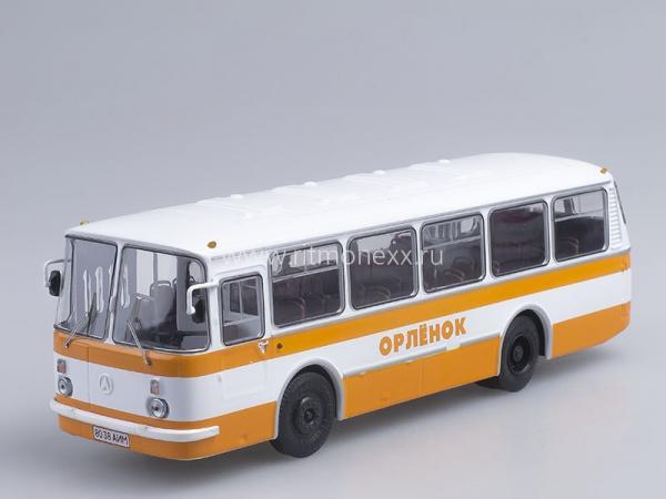 """ЛАЗ-695Н""""Львiв (Советский автобус) [1976г., белый/оранжевый, 1:43]"""
