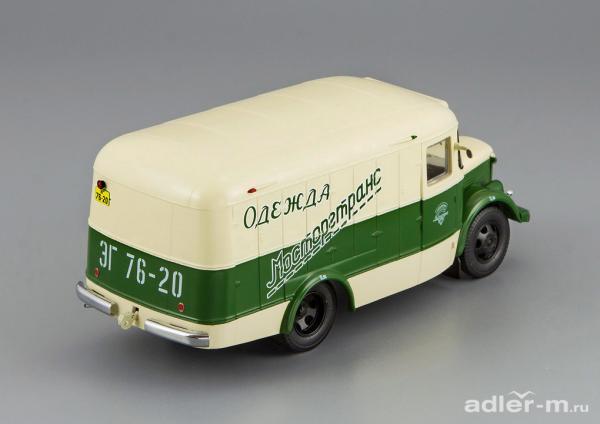 ПАЗ-661 (DiP Models) [1956г., зеленый/бежевый, 1:43]