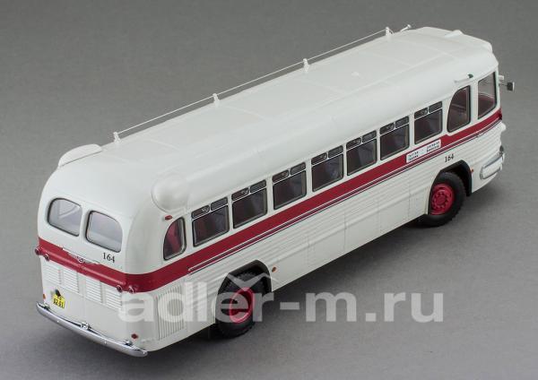 ЗИС 127, маршрут «Tallinn-Leningrad» (DiP Models) [1955г., белый с бордовой полосой, 1:43]