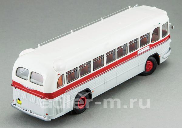 ЗИС 127, маршрут «Ставрополь-Пятигорск» (DiP Models) [1955г., белый, красный, серый, 1:43]