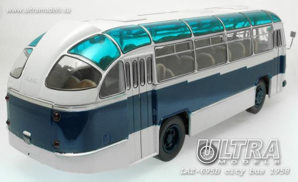 "ЛАЗ-695Б ""Львiв ""     ультрамарин (ULTRA Models) [1958г., синий/белый, 1:43]"