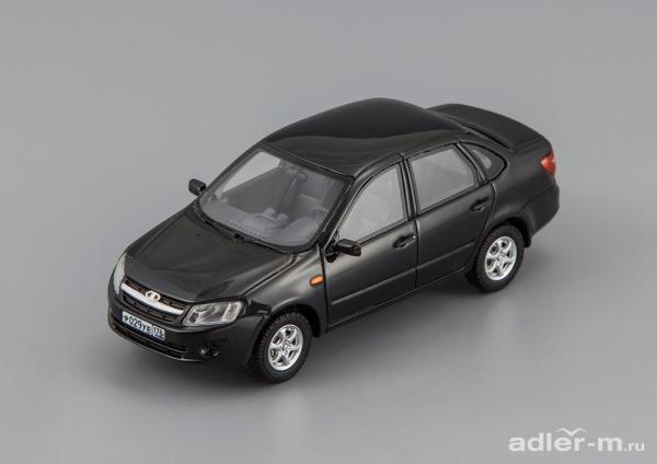 LADA Granta ВАЗ 2190 (DiP Models) [2012г., черный, 1:43]