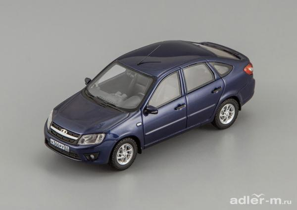 LADA Granta ВАЗ 2191 (DiP Models) [2014г., синий металлик, 1:43]