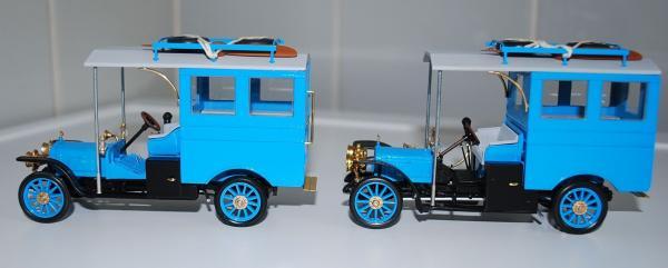 Руссо-Балт С 24/30 Авиационная авто-мастерская (Lakhterman & Kiriletz) [1911г., голубой, 1:43]