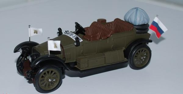 Руссо-Балт С 24/40 HP торпедо,штабной (Lakhterman & Kiriletz) [1914г., серый, 1:43]