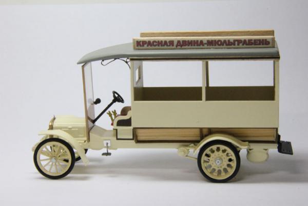 Руссо-Балт М 24/35 Омнибус Тип1 (Студия МАЛ / Lermont) [1913г., бежевый, 1:43]