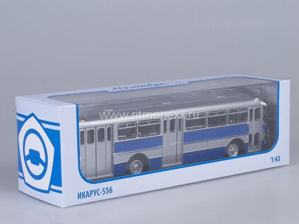 Икарус(Ikarus) - 556 (Венгрия) (Советский автобус) [1962г., серебристый/синий, 1:43]