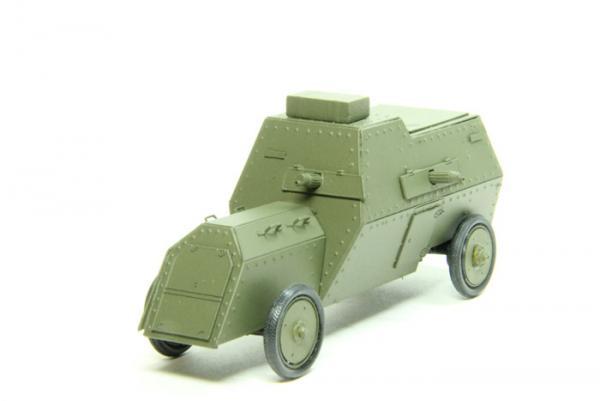 Руссо-Балт С24/40 бронеавтомобиль (Студия МАЛ / Lermont) [1914г., зеленый, 1:43]