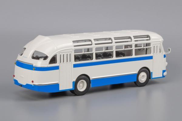 """ЛАЗ-695Е""""Львiв (Classicbus) [1961г., белый, синие полосы, 1:43]"""