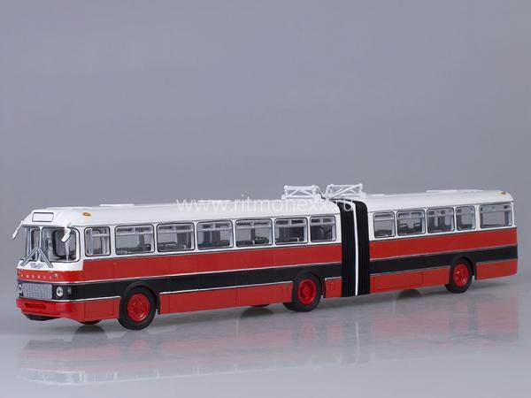 Икарус(Ikarus) -180  (Болгария) (Советский автобус) [1964г., красный/черный/белый, 1:43]
