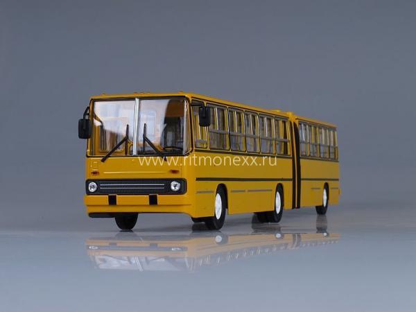Икарус(Ikarus) - Икарус-280.64 планетарные двери (Советский автобус) [1988г., желтый /белые двери, 1:43]