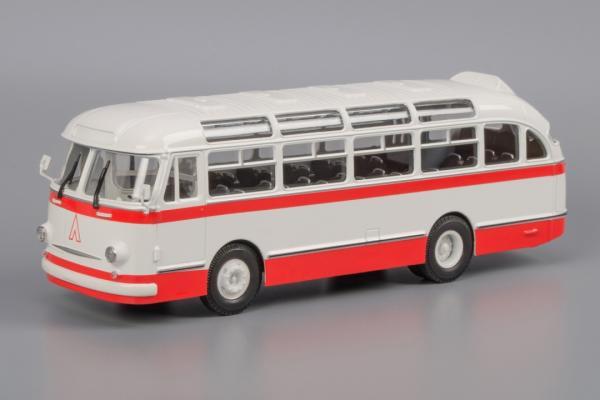 """ЛАЗ-695Е""""Львiв (Classicbus) [1961г., белый, красные полосы, 1:43]"""