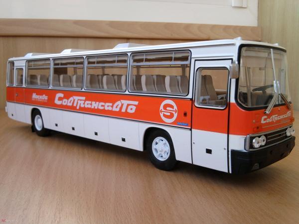 Икарус (Ikarus) -250.58 Совтрансавто (Classicbus) [1980г., белый, красная полоса, 1:43]