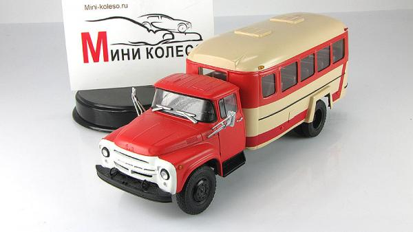 Кавз-4959 (шасси ЗИЛ-130Г-80) (Nik models) [1980г., красный/бежевый, 1:43]