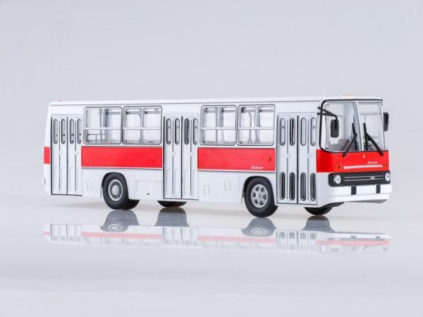Ikarus-260 (Советский автобус) [1972г., белый/красный, 1:43]