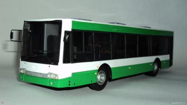 Волжанин-5270.06 «СитиРитм-12» (Киммерия) [2005г., белый/зеленый, 1:43]
