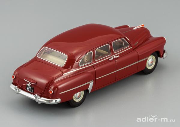 ГАЗ(ЗИМ)-12 (DiP Models) [1950г., вишневый(бордовый), 1:43]