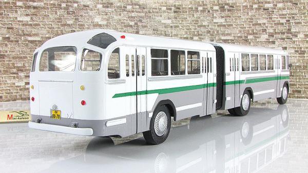 ЛиАЗ-5Э-676 сочлененный (Vector-Models) [1962г., белый/серый/зелёный, 1:43]