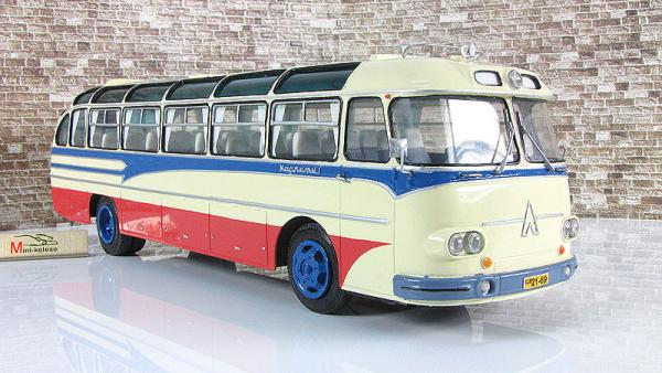 ЛАЗ-699А «Карпаты-1» (Vector-Models) [1961г., бежевый/красный/синий, 1:43]