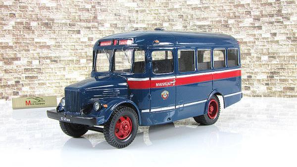КАвЗ-651А (милиция) (Vector-Models) [1960г., синий/красный, 1:43]