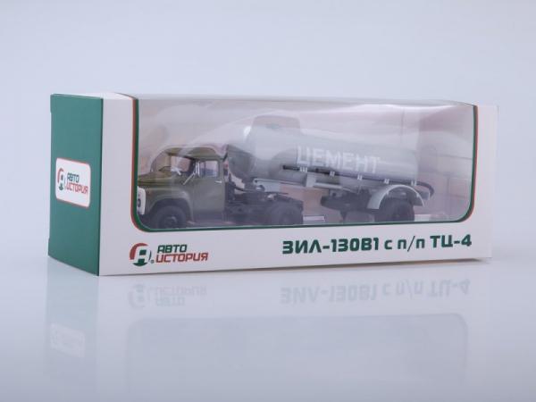 ЗиЛ-130В1 с полуприцепом ТЦ-4 (Автоистория (АИСТ)) [1990г., хаки/серый, 1:43]