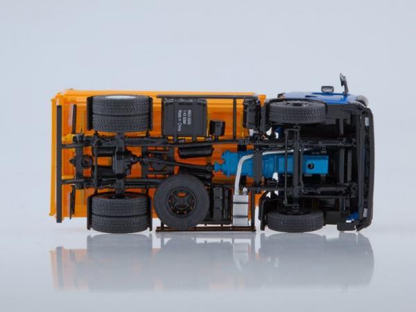 МАЗ-5550 самосвал (Start Scale Models (SSM)) [1990г., синий/оранжевый, 1:43]