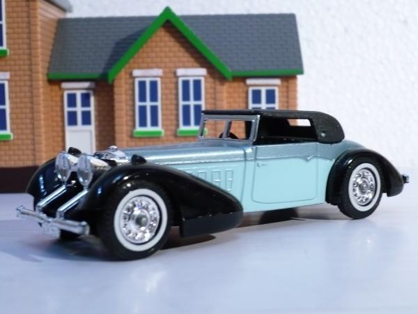 Hispano Suiza (Matchbox) [1938г., чёрно-серо-голубой, 1:43]