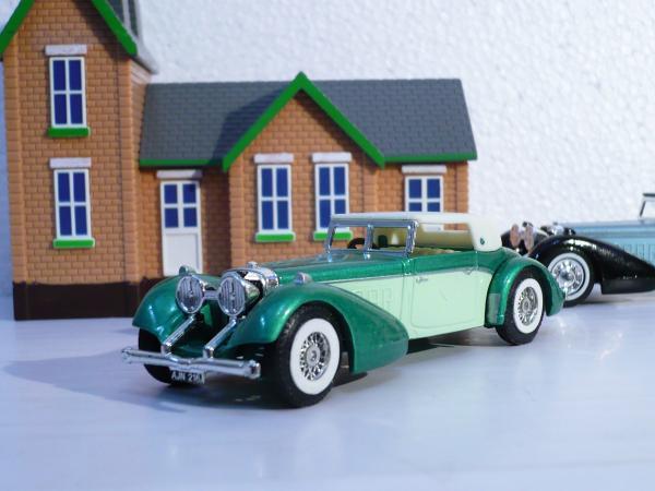Hispano Suiza (Matchbox) [1938г., зелёно-салатный, 1:43]