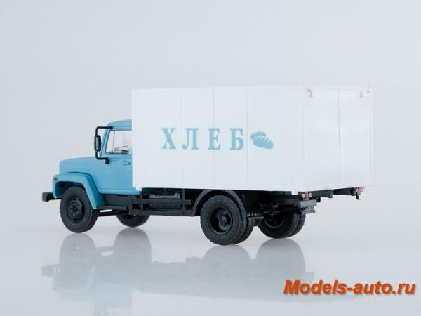 Газ-3307 фургон для перевозки хлеба (Наши Грузовики) [1989г., голубой с белым, 1:43]