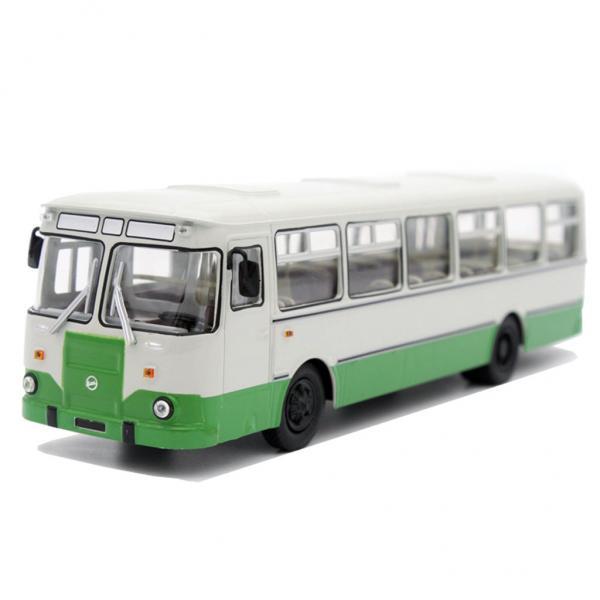 Лиаз-677М (Советский автобус) [1986г., белый/зеленый, 1:43]