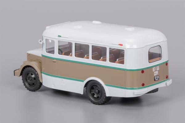 Кавз-651 (Classicbus) [1958г., белый, коричневая полоса, 1:43]