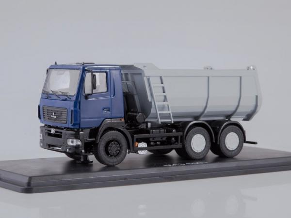 МАЗ-6501 самосвал, U-образный кузов (Start Scale Models (SSM)) [2008г., синий/серый, 1:43]