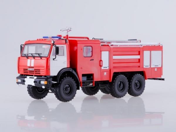 КАМАЗ-43118 (АЦ-5-40) (ПАО КАМАЗ) [2014г., красный/белый, 1:43]