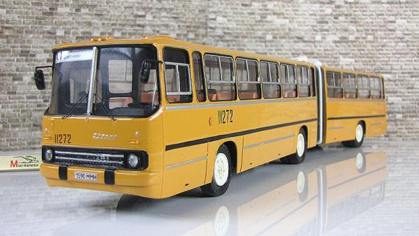 ИКАРУС(Ikarus)-283.00 сочлененный (18м) (Vector-Models) [1988г., желтый/белый, 1:43]