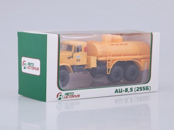 КРАЗ-255Б (АЦ-8,5) Аэрофлот (Автоистория (АИСТ)) [1978г., желтый, 1:43]