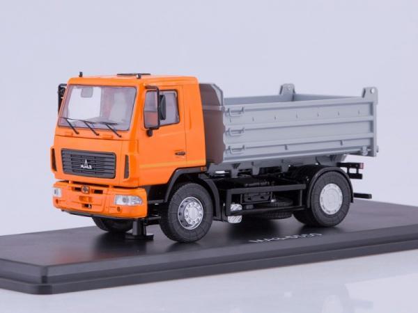 МАЗ-5550 самосвал (рестайлинг) (Start Scale Models (SSM)) [2000г., оранжевый/серый, 1:43]