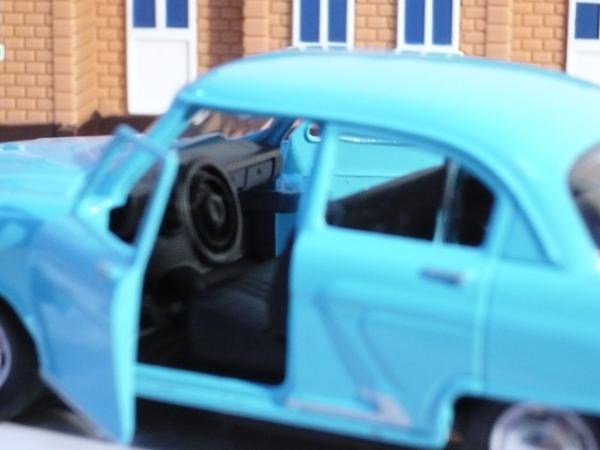 ГАЗ-21 (Autotime) [1957г., голубой, 1:43]