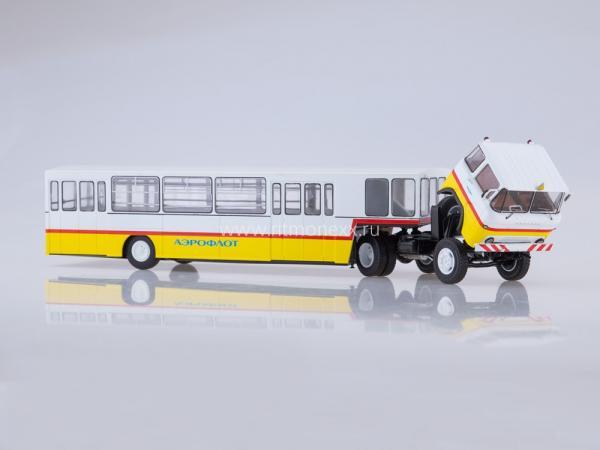 КАЗ-608 с полуприцепом АППА-4 Аэрофлот (Start Scale Models (SSM)) [1967г., белый/желтый/красный, 1:43]